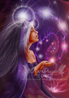 Connect to Source - Sacred Light Visions - The Art of Kim Dreyer