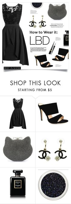 """LBD"" by mahafromkailash ❤ liked on Polyvore featuring Chanel, Christian Louboutin and vintage"