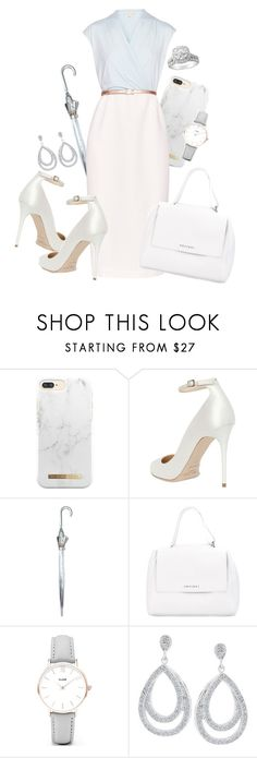 """""""Office Outfit"""" by kitty-cat130 ❤ liked on Polyvore featuring Jimmy Choo, Fulton, Ted Baker, Orciani and CLUSE"""