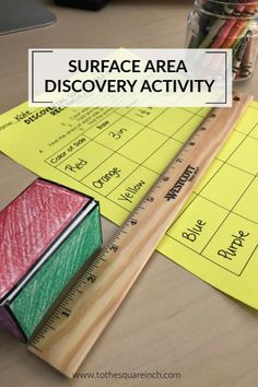 Teaching surface area of rectangular prisms with this fun discovery activity! High School Activities, Math Activities, Steam Activities, 7th Grade Math, Third Grade, Teaching Math, Maths, Teacher Blogs, Surface Area