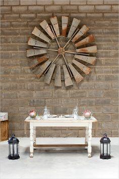 rustic barn sweetheart table #weddingreception #sweethearttable #weddingchicks http://www.weddingchicks.com/2014/02/27/south-africa-farm-wedding/