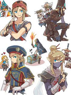 The Legend Of Zelda, Legend Of Zelda Memes, Legend Of Zelda Breath, Link Chibi, Image Zelda, Link Art, Link Zelda, Breath Of The Wild, Game Character