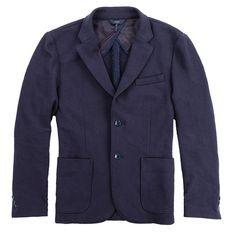 Twill Jacquard Sweatshirt Blazer