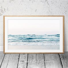 Beach Print, Black and White Wall Art,Minimalist Coastal Wall Art, Beach Wall Art, Beach Room, Beach Artwork, Landscape Walls, Landscape Prints, Horizontal Wall Art, Blue Wall Decor, Hamptons Decor