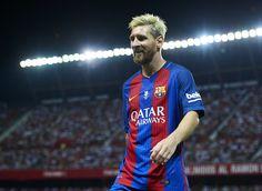 Lionel Messi Photos Photos - Sevilla FC vs FC Barcelona - Spanish Super Cup Final 1st Leg - Zimbio