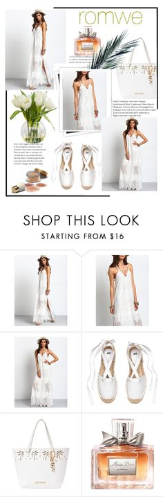 """""""Country White Dress"""" by lyric0ne ❤ liked on Polyvore featuring GALA, Betsey Johnson, Christian Dior and country"""
