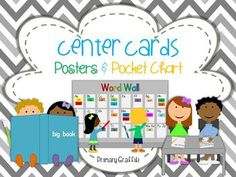 Center Rotations: center icons, charts, and student cards!