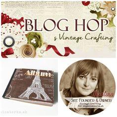 Októbrový BLOG HOP s Vintage Crafting - Martina / October BLOG HOP with Vintage Crafting - Martina