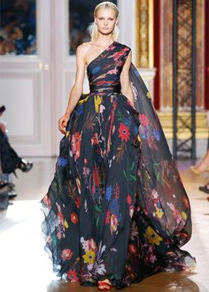 Zuhair Murad, 2013? I wish people would annotate their pins. Anyway, this is gorgeous. I love the print and the volume.