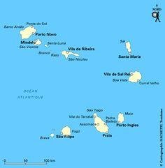 Carte Cap Vert - Plan Cap Vert