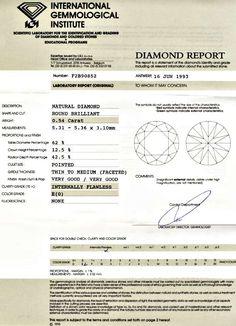 Foto 9, Diamant, IGI!!!, Brillant 0.54ct Lupenrein River Juwel!, D5530