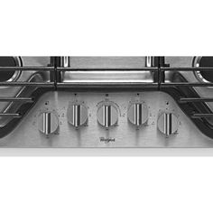 Whirlpool 30 in. Gas Cooktop in Stainless Steel with 5 Burners including EZ-2-Lift Hinged Grates-WCG97US0DS - The Home Depot