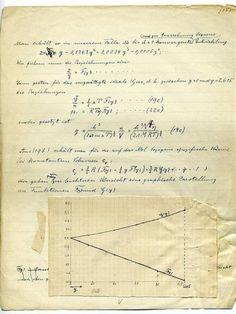 Albert Einstein manuscript.