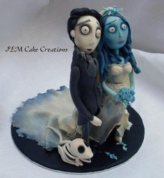 Corpse Bride - Cake by Julia Don't  forget doggy