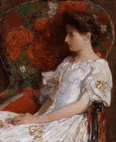 The Victorian Chair   by Frederick Childe Hassam