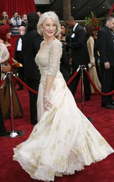 Helen Mirren in Christian Lacroix, 2007  Helen is a total class act.  She is simply elegant in every way!