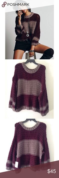 Free people BUNDLE Special listing to bundle side by side pullover and spells trouble. Free People Sweaters
