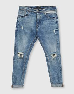 Carrot fit ripped jeans - Jeans - Clothing - Man - PULL&BEAR Albania