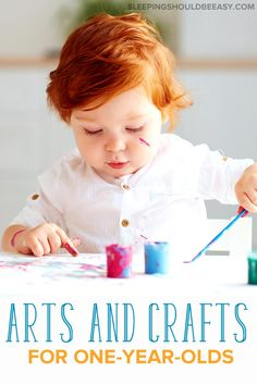 Easy Arts and Crafts for 1 Year Olds (No Complicated Instructions!) - Looking for easy arts and crafts for 1 year olds? Check out the best activities for your toddler— - Toddler Arts And Crafts, Arts And Crafts For Adults, Easy Arts And Crafts, Kids Crafts, Activities For 1 Year Olds, Art Activities, Toddler Activities, Fun Craft, Arts And Crafts Interiors