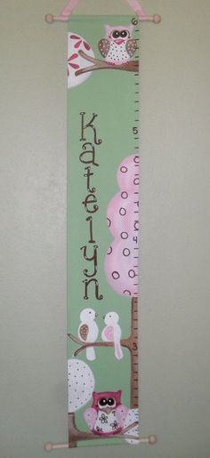Fabric Growth Chart By Jmc Creations Via Flickr Baby Things