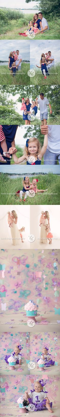 An outdoor family session for the fourth of July and a sweet butterfly cakesmash for birthday girl M!