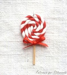 Tutorial: making a lollipop Christmas polymer clay by Ptitamande