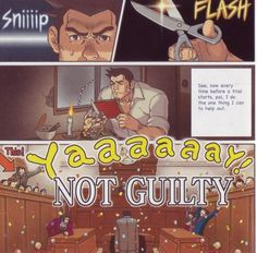 The janitors must hate him for this... poor Gumshoe.