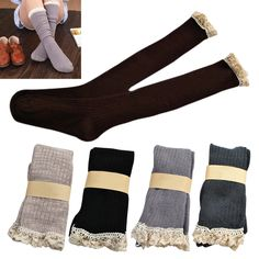Cheap cotton low cut socks, Buy Quality cotton spandex socks directly from China sock white Suppliers: 			Ladies Lace Trimed Leg Warmers Long Knee High Plain Stretch Cotton Socks 																						Ladies\' Lace Trimmed