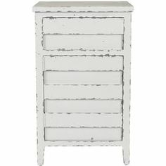 """Pine wood chest in weathered white with 1 drawer and a bottom cabinet.        Product: Chest    Construction Material: Pine wood    Color: Weathered white   Features:  One drawer and one door    Perfect place to store your household essentials    Will enhance any decor    Dimensions: 30.1"""" H x 18.1"""" W x 15"""" D"""