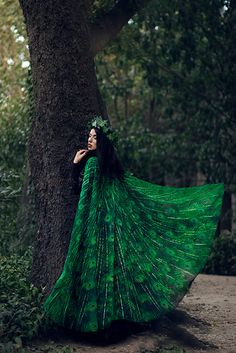 Cape peacock scarf tail feathers green sarong por CostureroReal