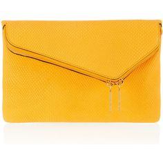 Henri Bendel Debutante Convertible Snake Clutch ($298) ❤ liked on Polyvore featuring bags, handbags, clutches, purses, leather hand bags, genuine leather purse, yellow leather purse, chain purse and yellow handbag