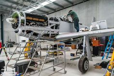 Soon to become the latest Mustang to fly in Australia, Nick Caudwell is preparing to do a test on the operation of the landing gear on Peter Gill's beautiful CA-18 A68-199 (VH-URZ).  This aircraft is the former VH-BOZ, operated by Illawarra Flying School at Bankstown during the 1960's.