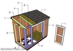 4x8 Short Shed with Lean to Roof Plans | MyOutdoorPlans | Free Woodworking Plans and Projects, DIY Shed, Wooden Playhouse, Pergola, Bbq
