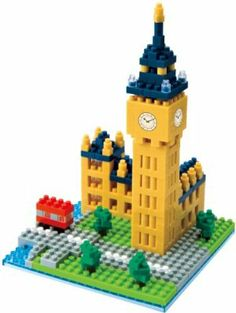 Neuschwanstein Castle Nanoblock Miniature Building Blocks New Sealed Pk NBH 010