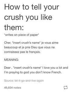 Cute Texts To Your Crush , Texts Crush Cute - Funny Quotes Cute Crush Quotes, Secret Crush Quotes, Crush Quotes For Girls, First Crush Quotes, Crush Qoutes, Crush Quotes About Him Teenagers, Funny Relatable Memes, Funny Texts, Funny Quotes
