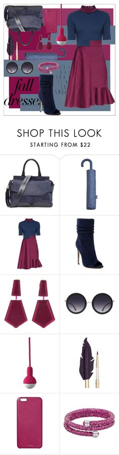 """Fall Fashion: Dresses"" by moody-board ❤ liked on Polyvore featuring rag & bone, Rika, MANGO, Lattori, Halston Heritage, Oscar de la Renta, Alice + Olivia, Chaos, Swarovski and falldresses"