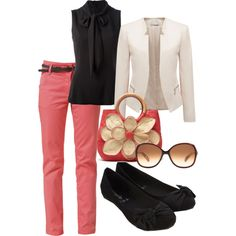 Business Dress. Not a fan of pink, but I like the solid going on for interpreting.