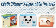 Cloth Diaper Disposable Insert Comparison #clothdiapers