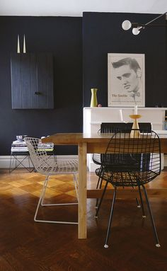 dark trends in the kitchen and dining room