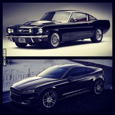 Old vs new: mustang edition of course the old wins!!