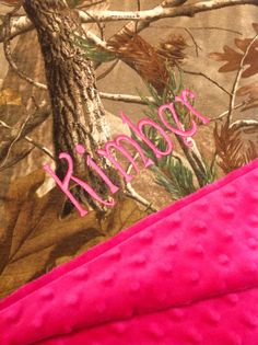 Personalized Realtree camo baby blanket by JeechStreet on Etsy
