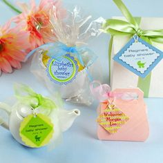 Personalized Baby Shower Favor Tags by Beau-coup