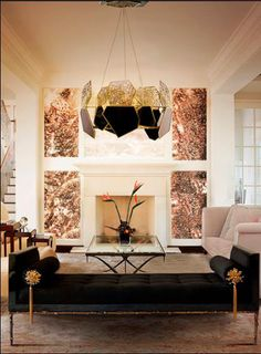 top_10_inspiracji_oswietlenia_sufitowego_do_salonu (6) #livingroom #koket