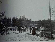 Bridge over Imatra rapids in the summer of 1893