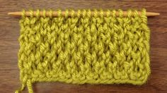 How to Knit the Bee Stitch.