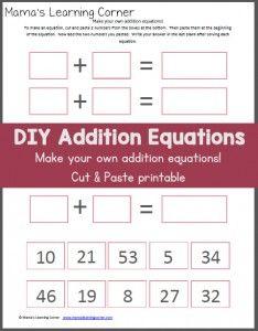 Homeschool Math Worksheet Fun Addition To Fish First Grade Make ...