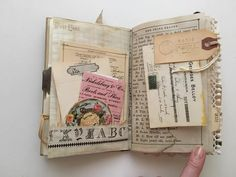Tsunami Rose Designs: DT Project: Beth Wallen- Vintage Mini Junk Journal using various Ephemera Packs Junk Journal, Art Journal Pages, Fabric Journals, Art Journals, Vintage Journals, Handmade Journals, Handmade Books, Art Doodle, Altered Books Pages