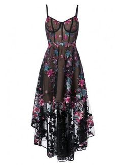 Marchesa Notte Floral Embroidered high-low Dress - Customer Service - Ideas of Selling A Home Tips - Shop Marchesa Notte floral embroidered high-low dress. Lace Party Dresses, Prom Dresses Blue, Homecoming Dresses, Pretty Dresses, Beautiful Dresses, Corset Dresses, Flower Dresses, Maxi Dresses, Teen Dresses