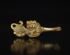 (Han dynasty) Han Dynasty, Gold Buckle. China. circa BCE 206 ~ CE 220.