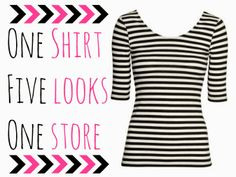 Pretty Updates: One shirt Five looks One store